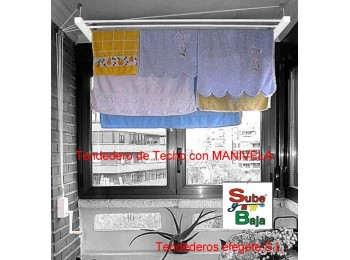 Tendedero techo manivela 200cm ac bl sube-baja efegete