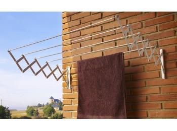 Tendedero pared 5 b. 120cm ext ac.ep. bl acordeon cuncial