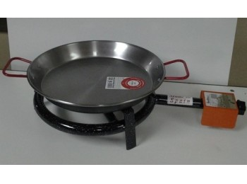 Paellero gas butano 1 fuego 30cm + p.32cm h. m300 la ideal