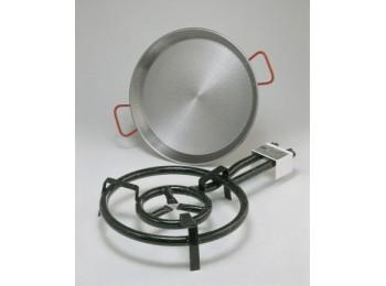 Paellero gas butano 2 fuegos 40cm + p.42cm h. m400 la ideal