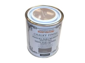 Pintura al agua para muebles 750 ml cacao chalky rust-oleum