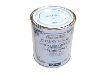 Pintura al agua para muebles 750 ml az/pas chalky rust-oleum