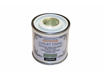 Pintura al agua para muebles 125 ml oliva chalky rust-oleum