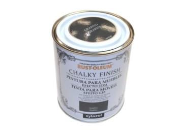 Pintura al agua para muebles 750 ml grafit chalky rust-oleum