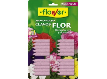 Abono plant solido flower clavos planta con flor 10506 30 pz
