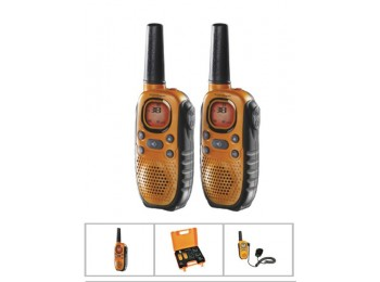 Walkie talkie vig. carg.bat 8c 10km alc topcom 2 pz