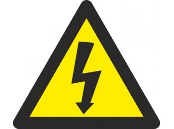 Cartel seÑal 090x090mm autoadh vinilo riesgo electrico 10 pz