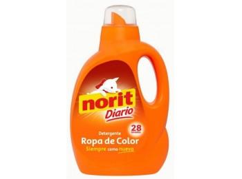 Detergente limp liq ropa color 28 lav. norit 1,5 lt