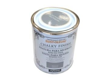 Pintura al agua para muebles 750 ml antr. chalky rust-oleum