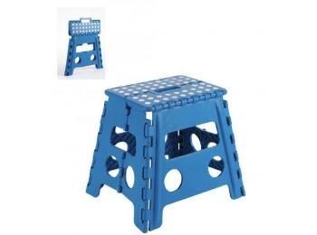 Taburete plegable plastico 290x320x220mm max.150kg azul