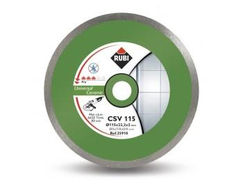 Disco corte porcelan. b/cont 115x22,2 mm diam csv115pro rubi