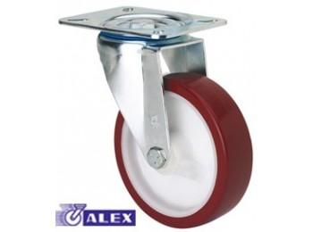 Rueda gir c/f 080mm 2-2354 pl.105x080 100kg.liso pu b/r zv p