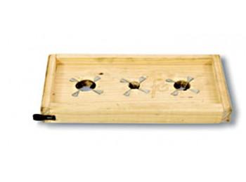 Tabla rajar aceitunas 330x170mm 3c.inox mad.maciza f.cortes