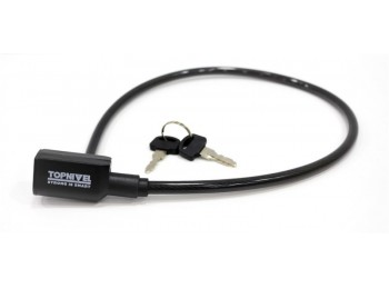 Candado antirrobo bicicl 8x65cm cable nivel