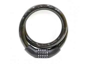Candado antirrobo moto 22x100cm cable combinacion nivel