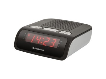 Radio portatil reloj despertador audiosonic alarma dual am/f