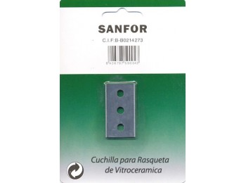 Cuchilla rasqueta 40mm vitroceramica sanfor 59004 5 pz
