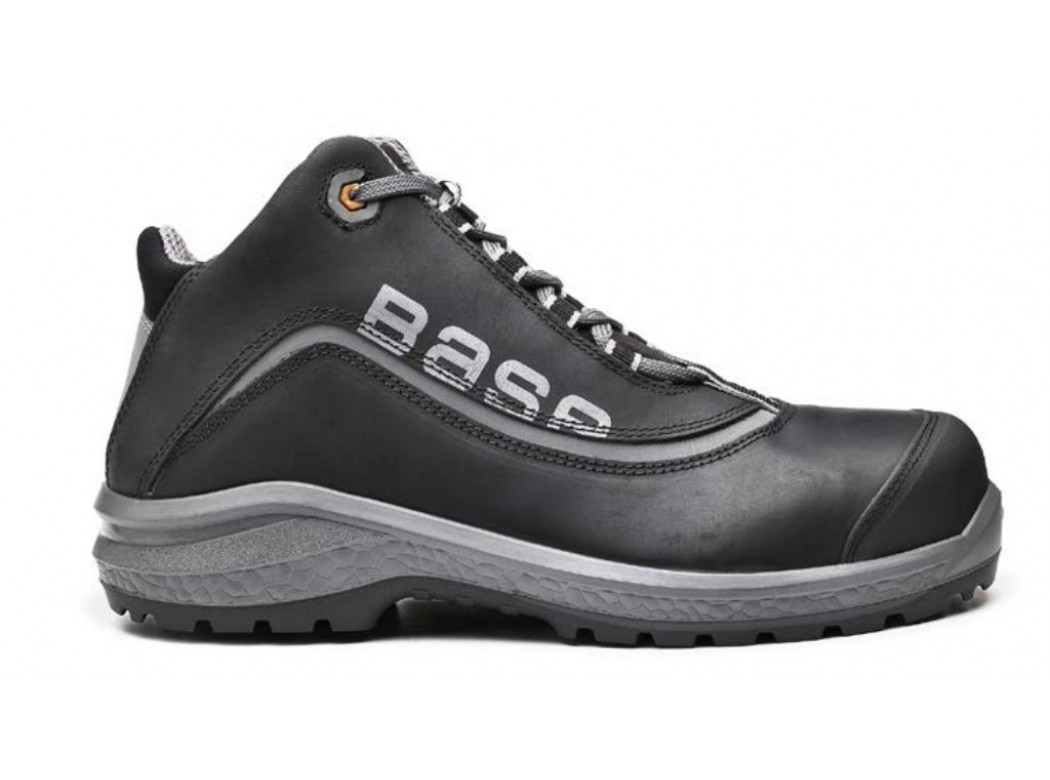 Bota t41 s3 pu/pl no met be-free top piel engr. neg/gr base