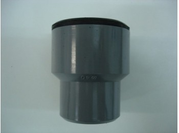 Manguito evac a tubo metalico 40mm-28/35mm pvc gr s&m