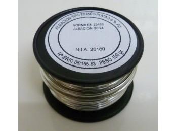 EstaÑo soldar 99/105mm-100gr carrete estaÑo/plata s&m