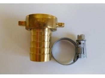 Racor manguera con abrazadera 3/4x19/20mm lat/pul s&m