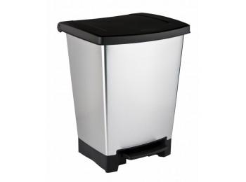Cubo bas. recicl. 25lt c/pedal 2comp. pl gr/pl curver