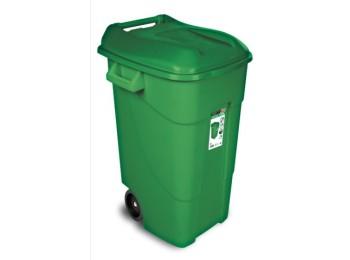 Contenedor bas. 120 lt c/rued tayg pl verde tapa 424007