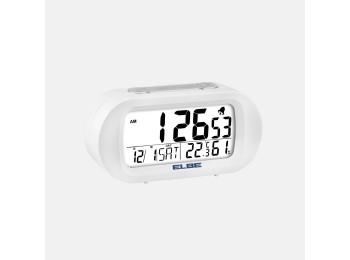 Reloj despertador termometro y luz elbe bl