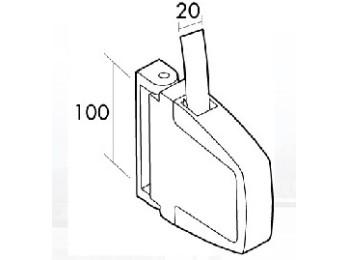 Recogedor pers 22mm sobrep pl bl/pin gaviota