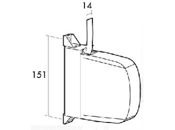Recogedor pers 14mm sobrep mini pl bl/bl gaviota