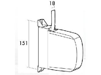 Recogedor pers 18mm sobrep mini pl bl/gr gaviota
