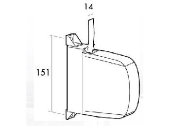 Recogedor pers 14mm sobrep mini pl bl/pin gaviota