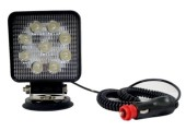 Proyector ilumin led 12-24v/27w/ip67 vehiculo magn t/mech te