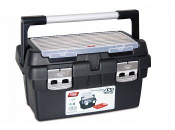 Caja herram 450x285x250mm asa y cierre alum pp nº450 tayg
