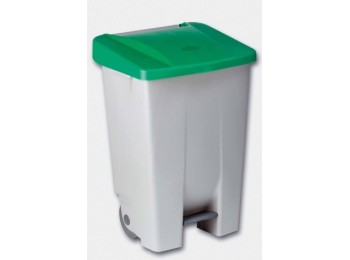 Contenedor bas. 80 lt c/rued denox pl verde tapa 23410