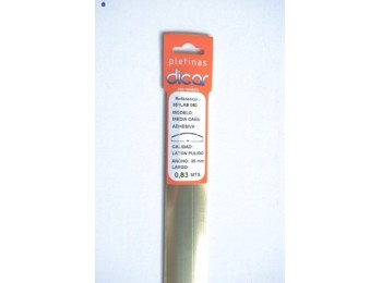 Pletina perf 83x3,5mm 1/2c adh inox lat dicar