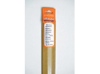 Pletina perf 73x45mm dis.nivel adh inox rob dicar