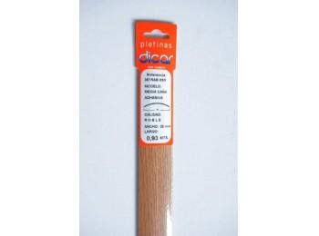 Pletina perf 93x3,5mm 1/2c adh inox rob dicar