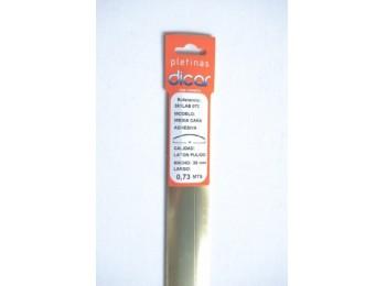 Pletina perf 73x3,5mm 1/2c adh inox lat dicar