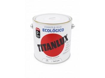 Esmalte acril sat. 2,5 lt bl al agua ecologico titanlux