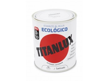 Esmalte acril sat. 750 ml bl al agua ecologico titanlux