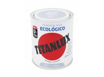 Esmalte acril mate 750 ml gr/per al agua ecologico titanlux