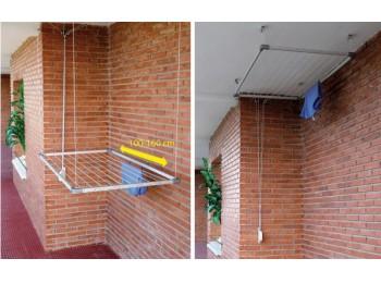 Tendedero techo exten 100-160cm alu con recogedor tz