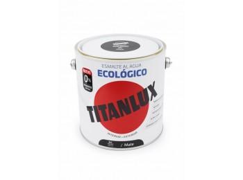 Esmalte acril mate 2,5 lt ne al agua ecologico titanlux