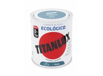 Esmalte acril mate 750 ml ver/jad al agua ecologico titanlux