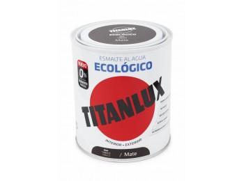 Esmalte acril mate 750 ml taba al agua ecologico titanlux
