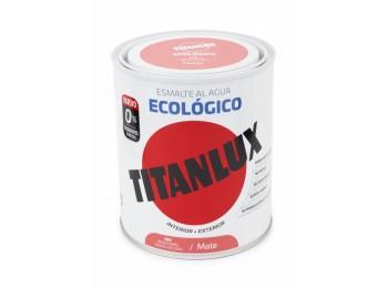 Esmalte acril mate 750 ml ro/cor al agua ecologico titanlux