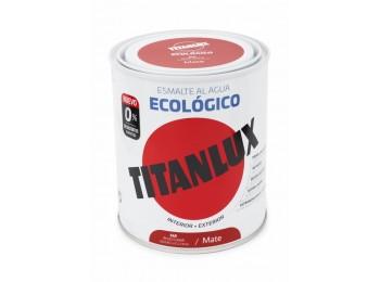 Esmalte acril mate 750 ml ro/ch al agua ecologico titanlux