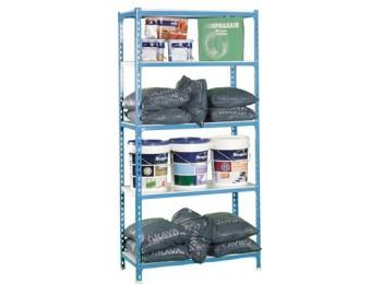 Estanteria metal s/torn 1800x900x400 5ban 180kg az/blc nivel