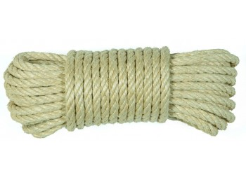 Cuerda torcida 06mm sisal nat 4 cabos hyc 10 mt